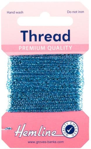 H1002\16 Glitter Thread: 10m - Sky Blue
