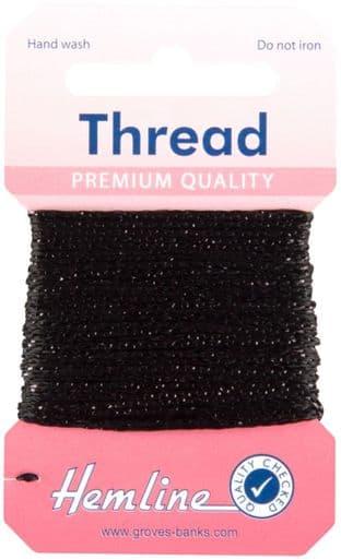 H1002\18 Glitter Thread: 10m - Black