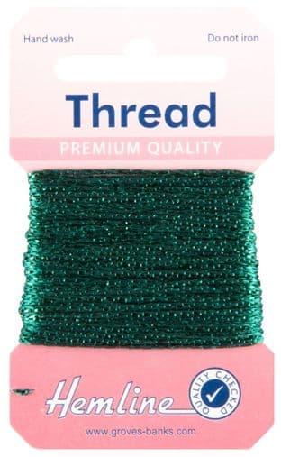 H1002\19 Glitter Thread: 10m - Bottle Green