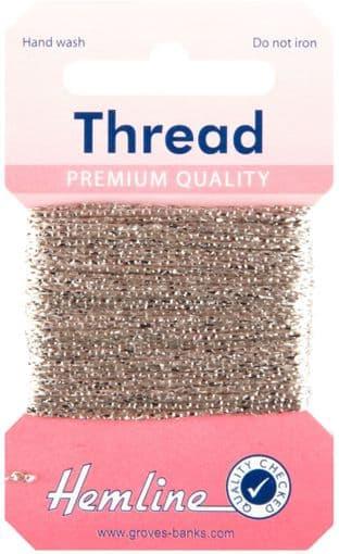 H1002\20 Glitter Thread: 10m - Oyster
