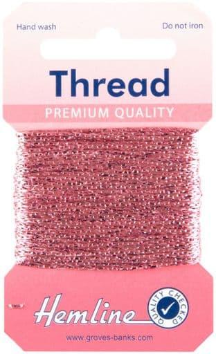H1002\21 Glitter Thread: 10m - Pink