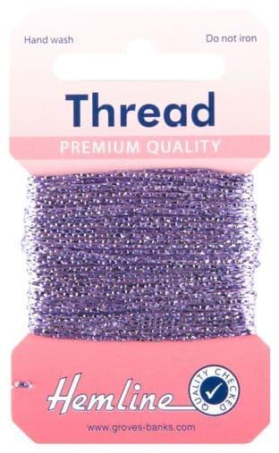 H1002\22 Glitter Thread: 10m - Lilac