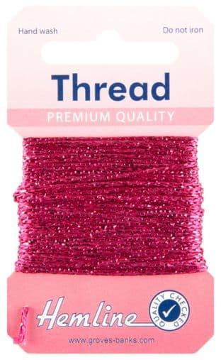 H1002\25 Glitter Thread: 10m - Fuchsia