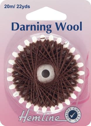 H1003.BR Darning Wool: 20m - Brown