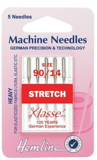 H102.90 Stretch Machine Needles: Heavy 90/14