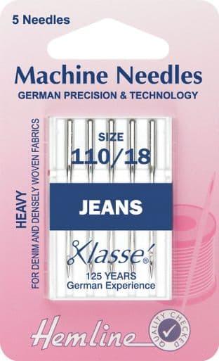 H103.110 Jeans Machine Needles: Heavy 110/18