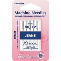 H103.80 Jeans Machine Needles: Medium 80/12