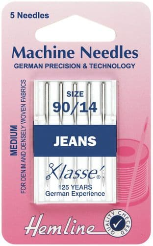 H103.90 Jeans Machine Needles: Medium/Heavy 90/14