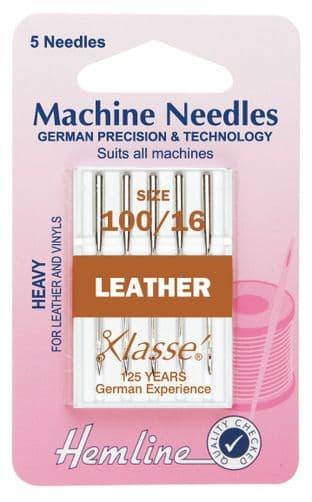 H104.100 Leather Machine Needles: Heavy 100/16