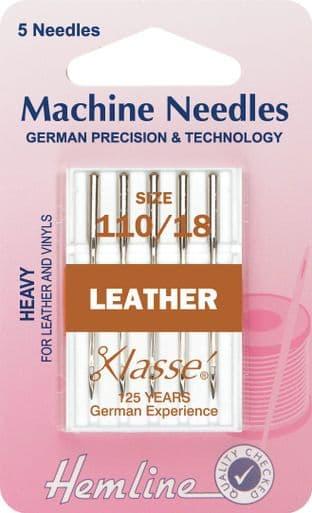 H104.110 Leather Machine Needles: Heavy 110/18