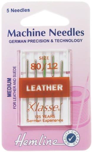 H104.80 Leather Machine Needles: Medium 80/12