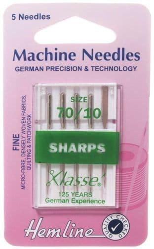 H105.70 Sharp/Micro Machine Needles: Fine 70/10