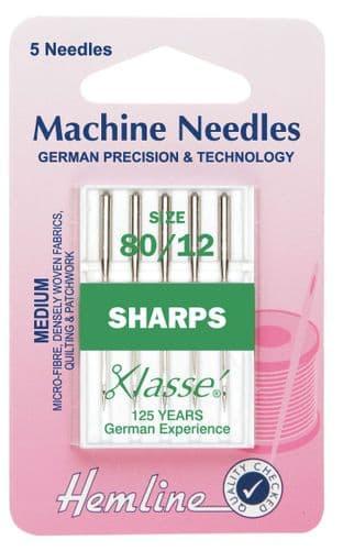 H105.80 Sharp/Micro Machine Needles: Medium 80/12