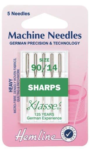 H105.90 Sharp/Micro Machine Needles: Heavy 90/14