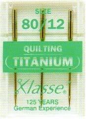 H106.T Titanium Quilting Machine Needles: Medium 80/12