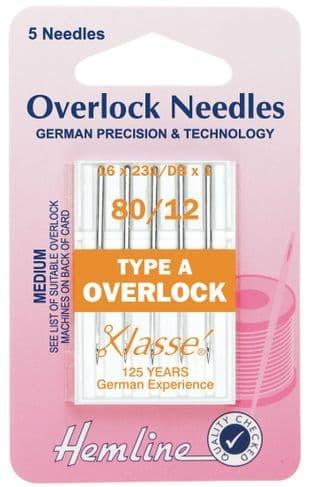 H107.A Overlock/Serger Machine Needles: Type A