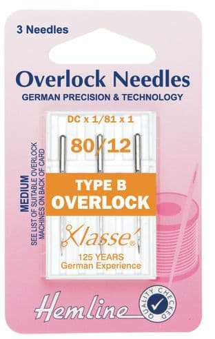 H107.B Overlock/Serger Machine Needles: Type B