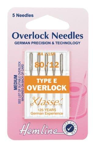 H107.E Overlock/Serger Machine Needles: Type E