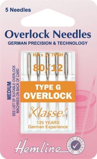 H107.G Overlock/Serger Machine Needles: Type G