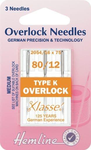 H107.K Overlock/Serger Machine Needles: Type K