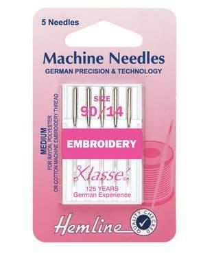 H108.90 Embroidery Machine Needles: Medium 90/14