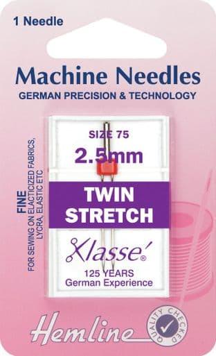 H112.25 Twin Stretch Machine Needles: 75/11 - 2.5mm