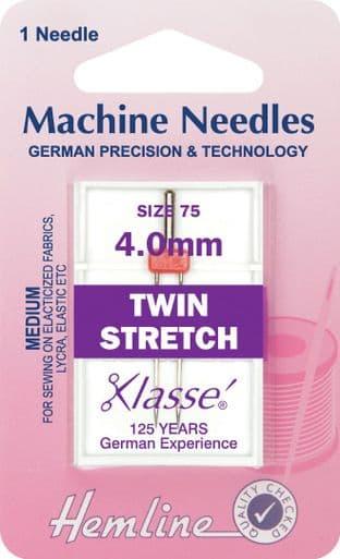 H112.40 Twin Stretch Machine Needles: 75/11 - 4mm