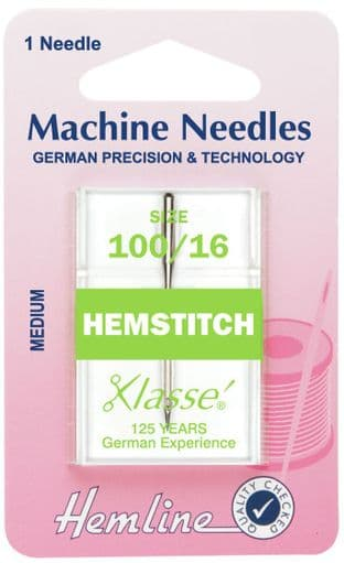 H115.100 Hemstitch Machine Needles: 100/16