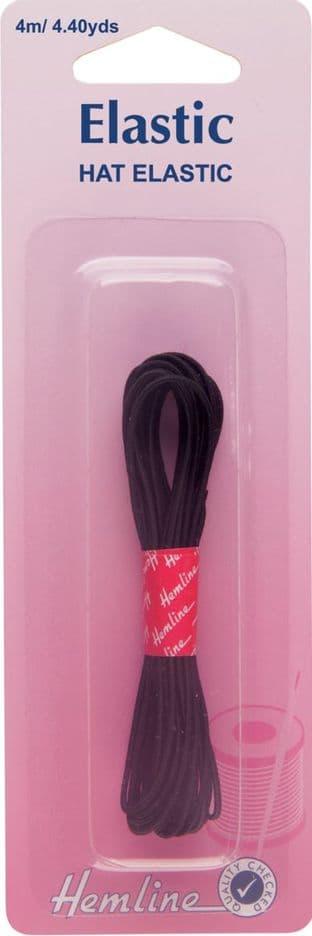 H611 Hat Elastic: Black - 4m x 1.3mm