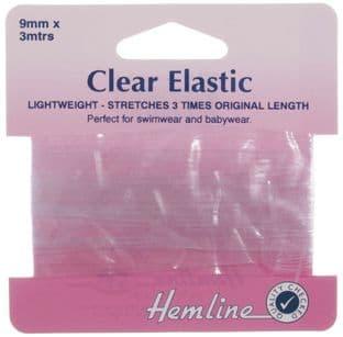 H686.90 Swimwear Elastic: Clear - 3m x 9mm