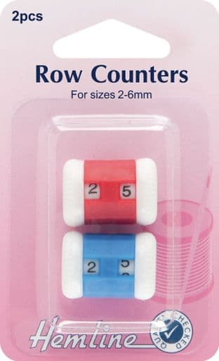 H882 Row Counters: Red/Blue - 2-6mm, 2pcs