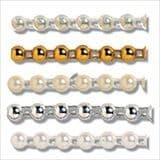 Pearl Beading: Flat Back: 25m x 4mm - Full Colour Range