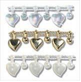 Pearl Beading: Shaped: Heart Drop: 10m x 12mm - Full Colour Range