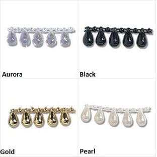 Pearl Beading: Shaped: Oval Drop: 10m x 12mm - Full Colour Range
