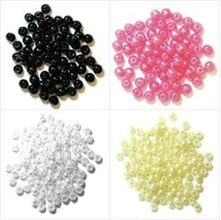 Pearls: 4mm: Full Colour Range - Choice of Pack Sizes