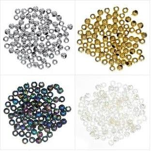 Plated Beads: 3mm - Full Colour Range - Choice of Pack Size
