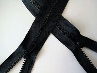"Z1005 Double End Open Ended Zips - Black - 28""/71cm"