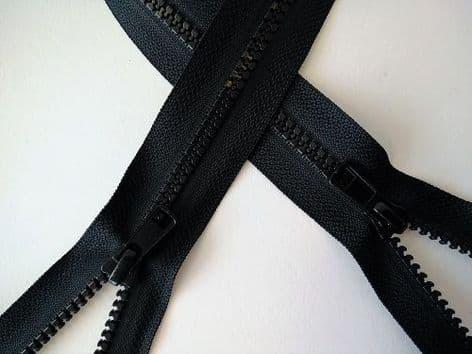 Z1006 Double End Open Ended Zips - Black - 30