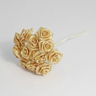B1154 Ribbon Rose: 15mm: Pack of 12 - Full Colour Range