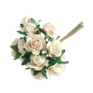 B1495 Rose: Open: Mini: Paper: Pack of 12