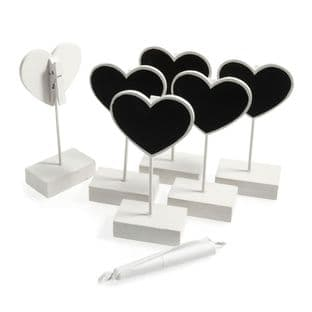 B1968 Card Holder: Heart: 11.5cm: Pack of 6 - Choice of Colour