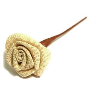 B2079NAT Ribbon Rose: Natural