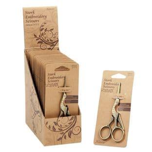 B5511 Scissors: Embroidery: Stork Design: 11.43cm/4.5in