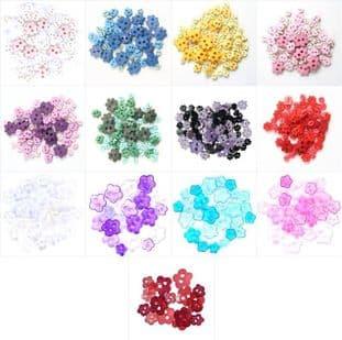 B6168 Mini Craft Buttons: Flower - Full Colour Range