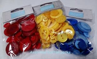 B6210 Bag of Craft Buttons: 50g - Full Colour Range (1)