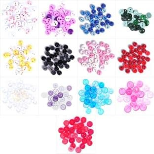 B6211 Mini Craft Buttons: Round: - Full Colour Range