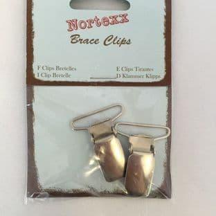 BC/1 Braces Clip: Nickel - 5 x 1 pair