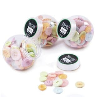 BP001 Jar of Craft Buttons: Pastels: Pack of 3