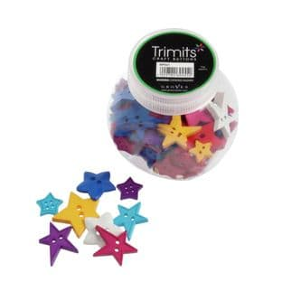 BP021 Jar of Craft Buttons: Stars: Pack of 3