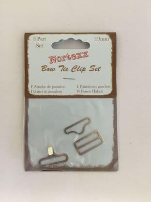 BTC/1 Bow Tie Clip Set: Nickel - 5 x 1 set